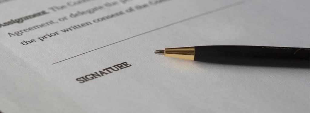 Signature Contrat Obsèques