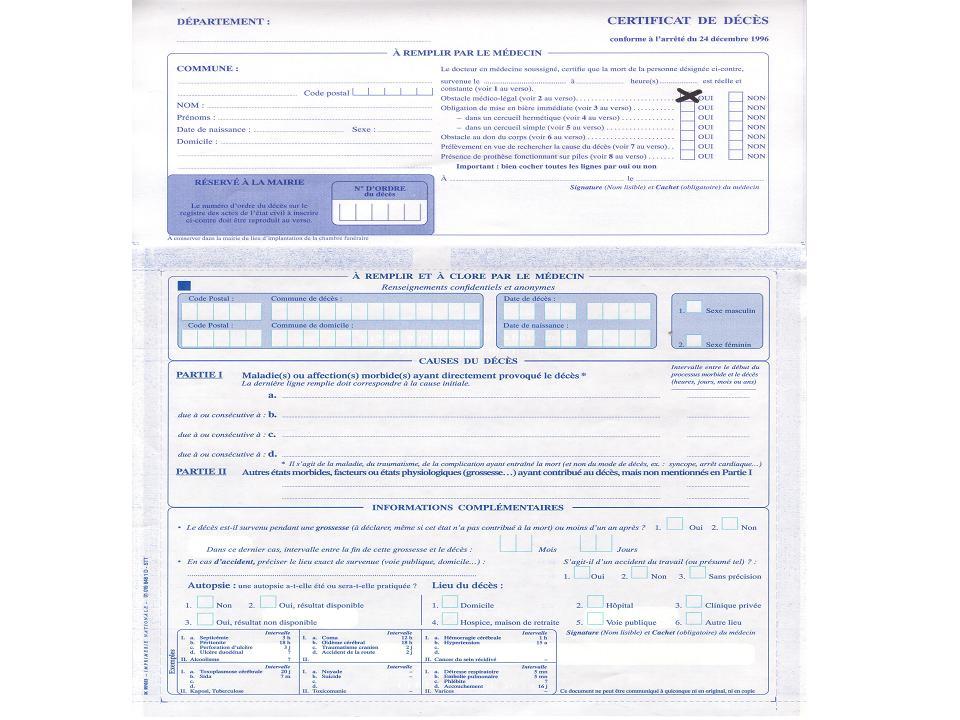 Certificat De Deces Vierge
