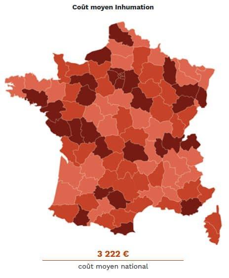 Cout Moyen Inhumation En France © Meilleures Pompes Funebres